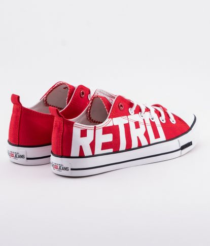 CLAXTON PRINT 19 SNEAKERS, RED