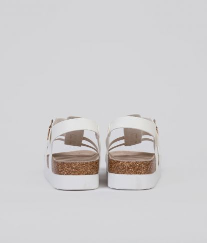 JOAN SANDAL, WHITE