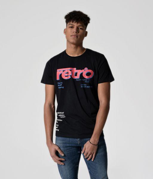 NITIN TEE T-SHIRT, BLACK