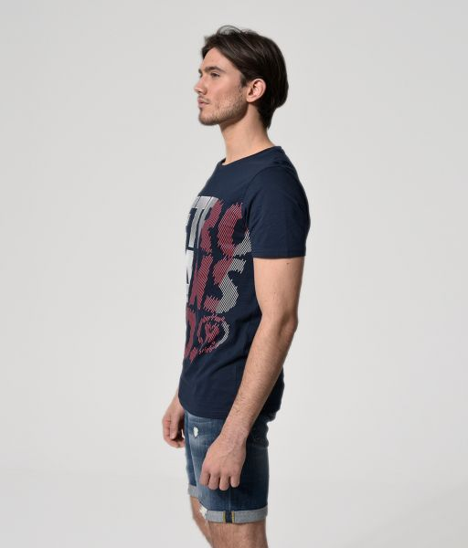 ANDRO T-SHIRT, DARK BLUE