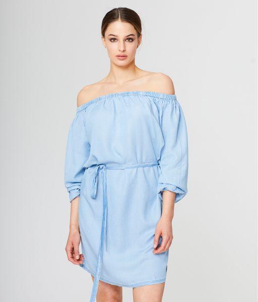 VERONICA D DRESS, LIGHT BLUE
