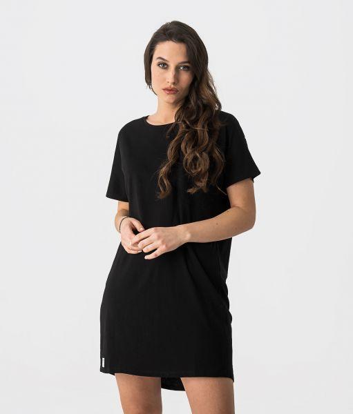 LORI D DRESS, BLACK