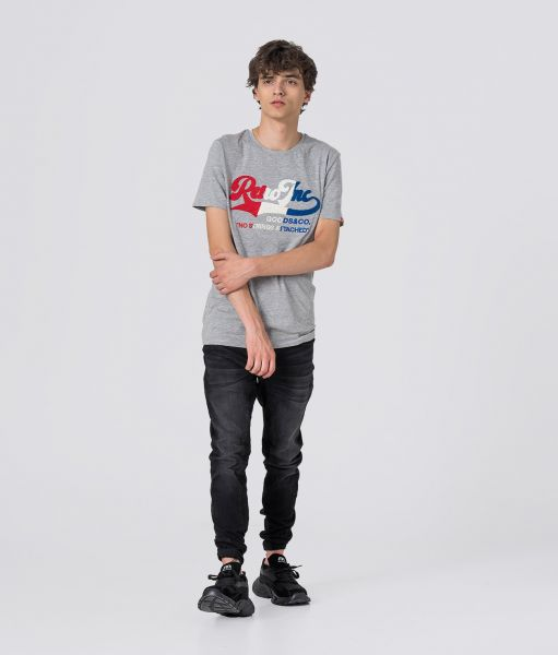 AUGUST T-SHIRT, GREY MELANGE