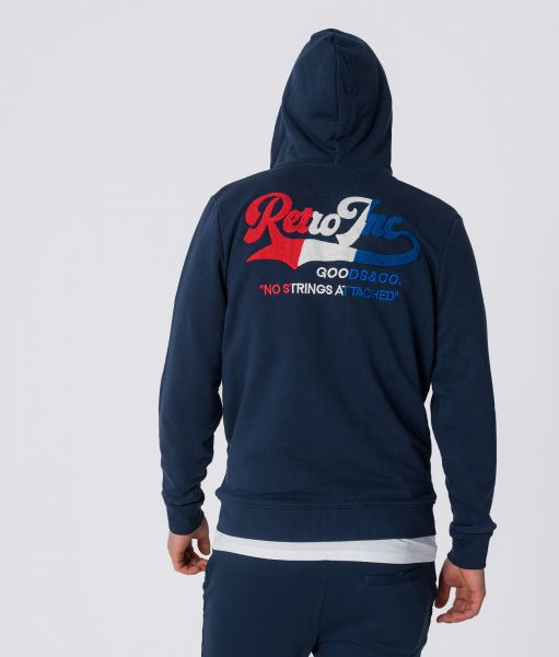AUGUST HOODIE JOGGING TOP, DARK BLUE