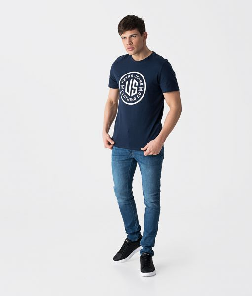MAREK T-SHIRT, DARK BLUE