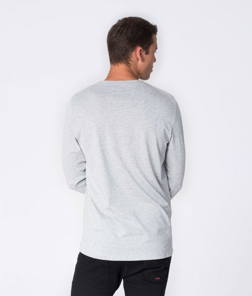 SANDER LONG L.S.TOP, GREY MELANGE