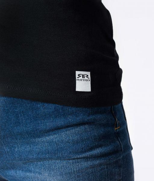 DIYA SLIM V T-SHIRT, BLACK