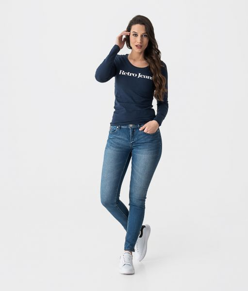 MARLY OUT L.S.TOP, DARK BLUE